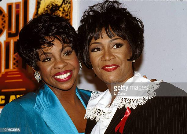 Gladys Knight Patti LaBelle during 1994 Soul Train Music Awards at Shrine Auditorium in Los Angeles California United States