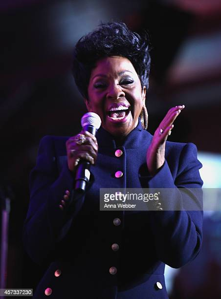 Gladys Knight performs at Friends of Hudson River Park Sweet 16 Gala at Pier 26 at Hudson River Park on October 16 2014 in New York City
