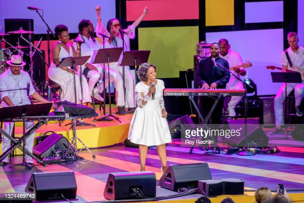 """Gladys Knight performs during Questlove's """"Summer Of Soul"""" screening & live concert at Marcus Garvey Park in Harlem on June 19, 2021 in New York City."""