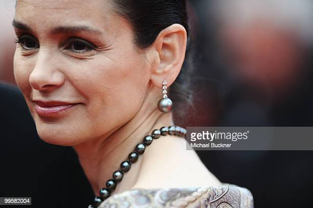 """Gladys Portugues attends the """"You Will Meet A Tall Dark Stranger"""" Premiere at the Palais des Festivals during the 63rd Annual Cannes Film Festival on..."""