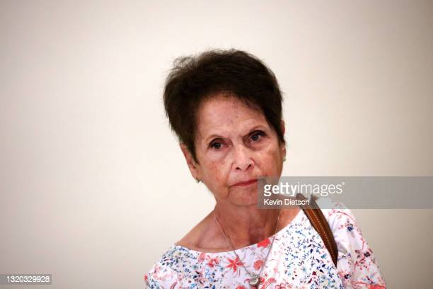 Gladys Sicknick, the mother of late Capitol Police Officer Brian Sicknick, leaves a meeting with Sen. Mitt Romney as she meets with senators to urge...