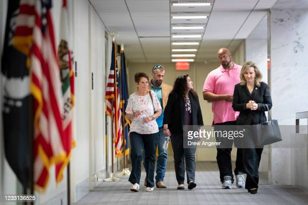 Gladys Sicknick, the mother of late Capitol Police Officer Brian Sicknick, DC Metropolitan Police OfficerMichael Fanone, Sandra Garza, of the late...