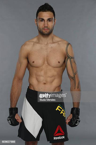 Glaico Franca of Brazil poses for a portrait during a UFC photo session on September 21 2016 in Brasilia Brazil