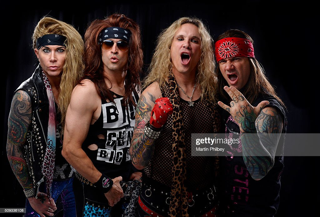 Glam metal band Steel Panther pose for portraits on Thursday