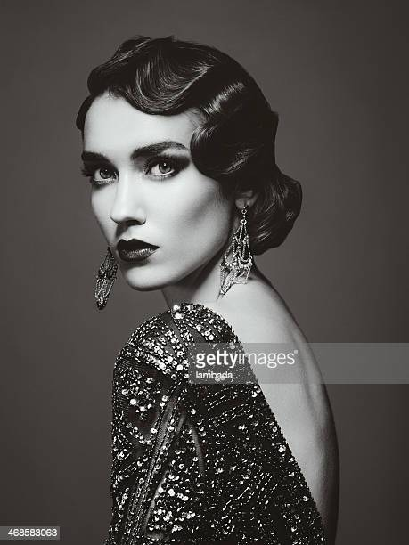 glam retro diva - roaring 20s stock photos and pictures
