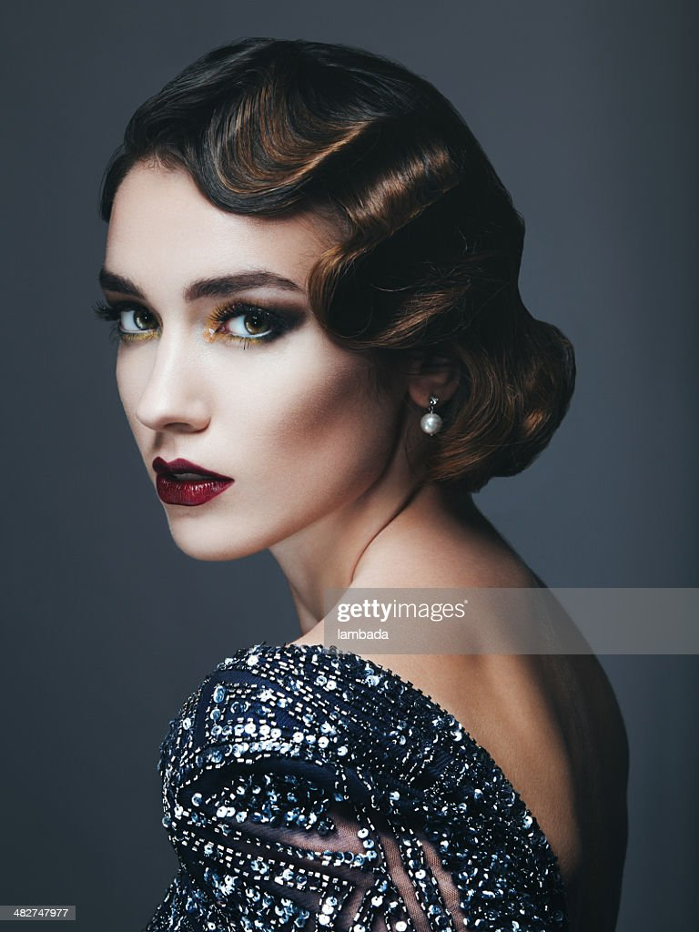 Glam retro diva : Stock Photo