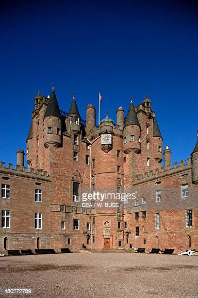 Glamis castle childhood home of Elizabeth BowesLyon wife of King George VI and mother of Queen Elizabeth II Angus Scotland United Kingdom