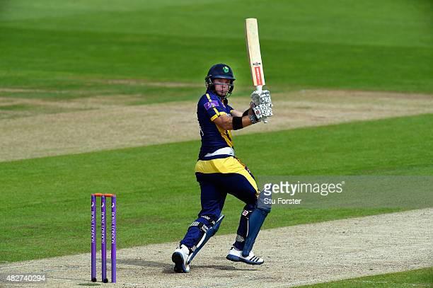 Glamorgan batsman Colin Ingram hits out during his half century during the Royal London OneDay Cup match between Glamorgan and Hampshire at SWALEC...