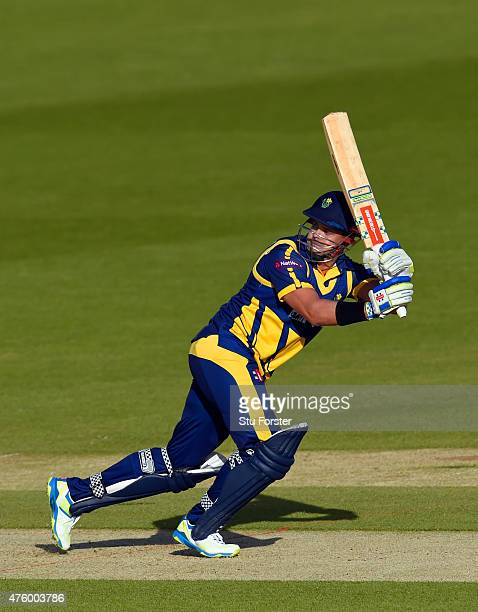 Glamorgan batsman Jacques Rudolph picks up some runs during the NatWest T20 Blast between Glamorgan and Middlesex at SWALEC Stadium on June 5 2015 in...