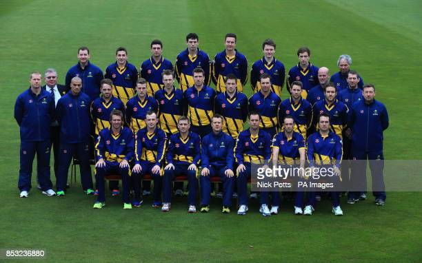 Glamorgan Cricket Club One Day and T20 team Group 2014 Back Row Mark Rausa Andrew Salter Ruaidhri Smith Mike Reed Jack Murphy Aneurin Donald Kieran...
