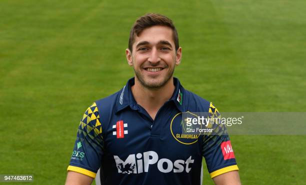 Glamorgan player Andrew Salter pictured during the 2018 Glamorgan CCC photocall at SSE Swalec Stadium on April 17 2018 in Cardiff Wales