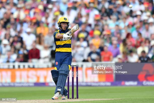 Glamorgan's Andrew Salter bats during the NatWest T20 Blast Finals Day at Edgbaston Birmingham
