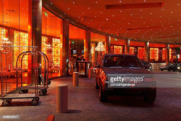 glamorous elaborate hotel entrance - valet stock photos and pictures