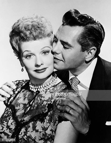 Glamorous Lucille Ball and husband Desi Arnaz play husbandandwife team on CBS TV's domestic comedy series I Love Lucy Miss Ball plays a stage struck...