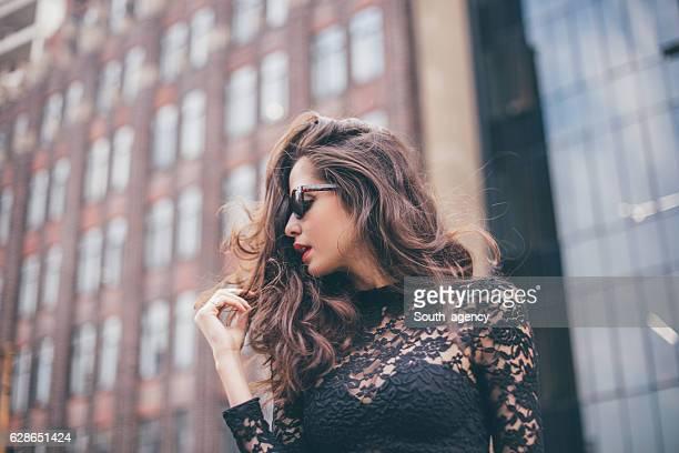 Mujer glamorosa