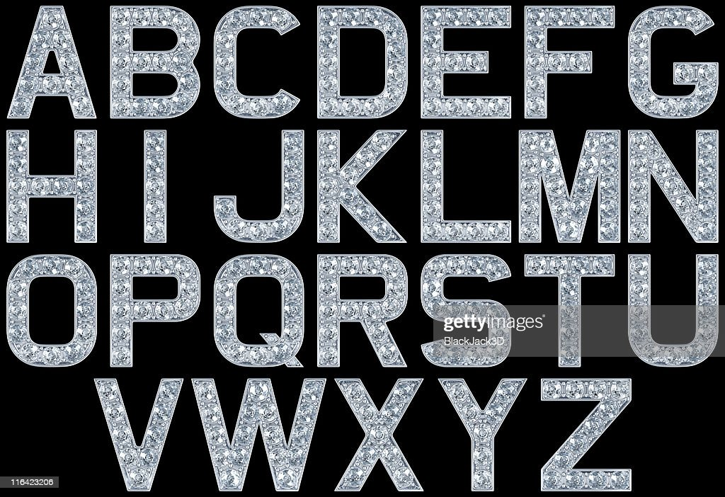 Glamour alphabet : Stock Photo