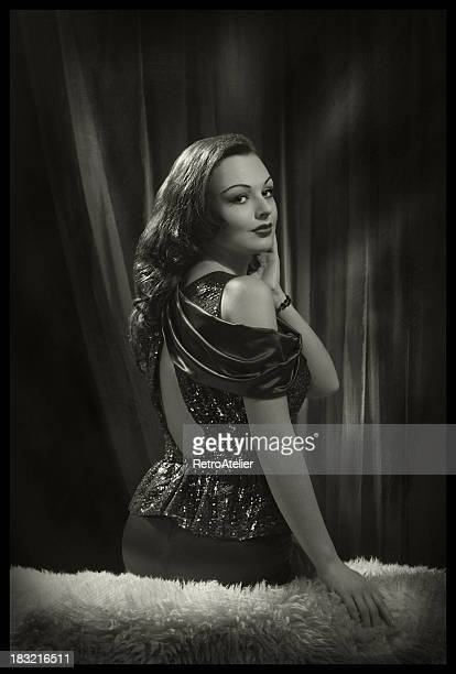 glamour beauty in film noir style. - actress stock pictures, royalty-free photos & images
