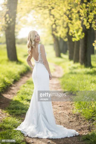 Glamour bride in the nature
