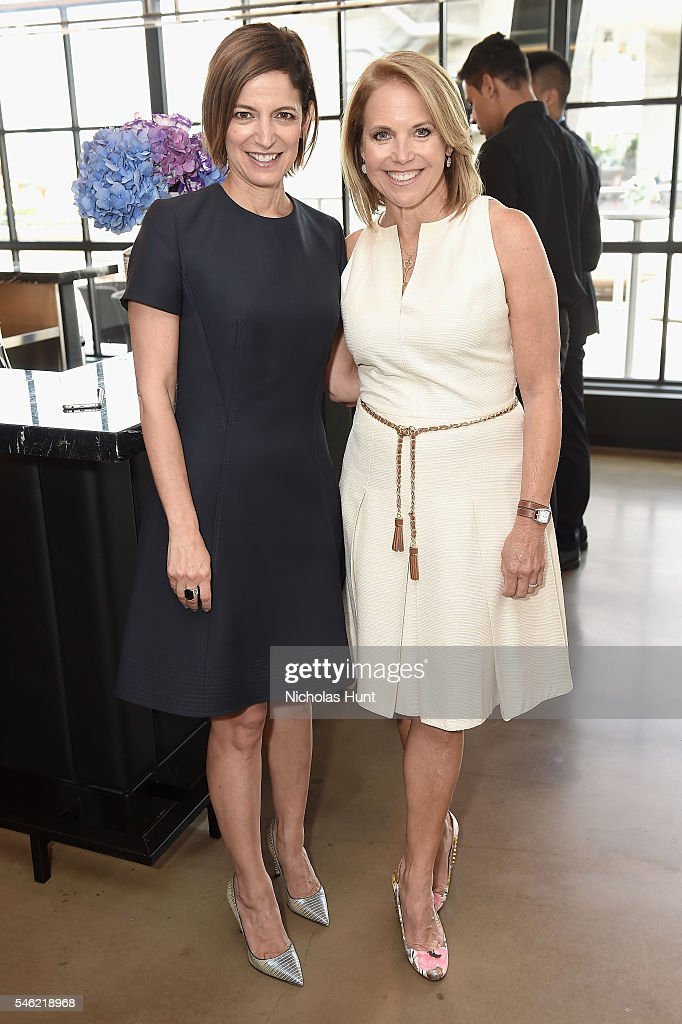 Glamour editor in chief Cindi Leive (L) and journalist Katie Couric attend a luncheon hosted by Glamour and Facebook to discuss the 2016 election at Samsung 837 in NYC on July 11, 2016 in New York City.