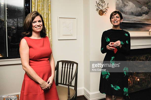 Glamour Editor In Chief Cindi Leive and New Washington DC Editor Giovanna Gray Lockhart attend a reception to honor Lockhart as the new Glamour...