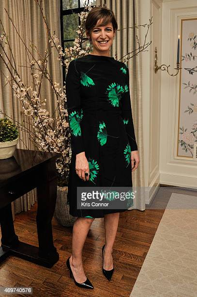 Glamour Editor In Chief Cindi Leive attends a reception to honor Giovanna Gray Lockhart as the new Glamour Washington DC Editor at a private...