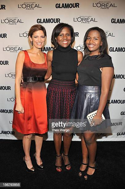 Glamour Editor in Chief Cindi Leive Deborah Roberts and Leila Roker attend the 22nd annual Glamour Women of the Year Awards at Carnegie Hall on...