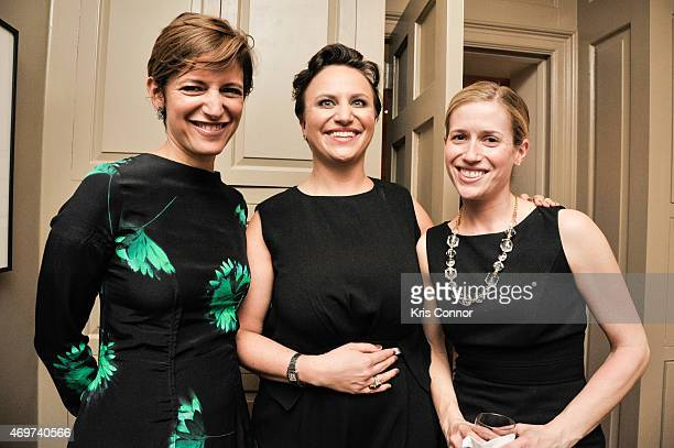 Glamour Editor In Chief Cindi Leive Genevieve Roth and Caroline Adler attend a reception to honor Giovanna Gray Lockhart as the new Glamour...