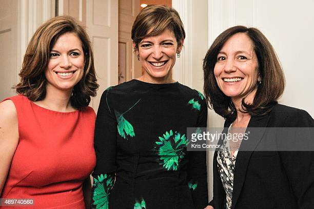 Glamour Editor In Chief Cindi Leive New Washington DC Editor Giovanna Gray Lockhart and Pamela Reeves Advisor for the Bill Melinda Gates foundation...