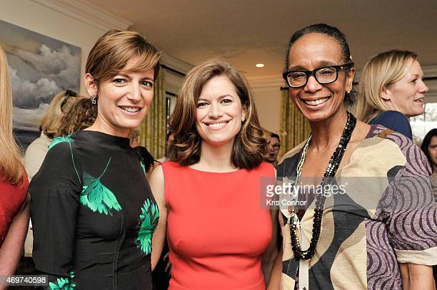 Glamour Editor In Chief Cindi Leive New Washington DC Editor Giovanna Gray Lockhart and Robin Givhan attend a reception to honor Lockhart as the new...