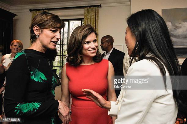 Glamour Editor In Chief Cindi Leive New Washington DC Editor Giovanna Gray Lockhart and guest attend a reception to honor Lockhart as the new Glamour...
