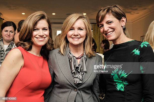 Glamour Editor In Chief Cindi Leive Rep Marsha Blackburn and New Washington DC Editor Giovanna Gray Lockhart attend a reception to honor Lockhart as...