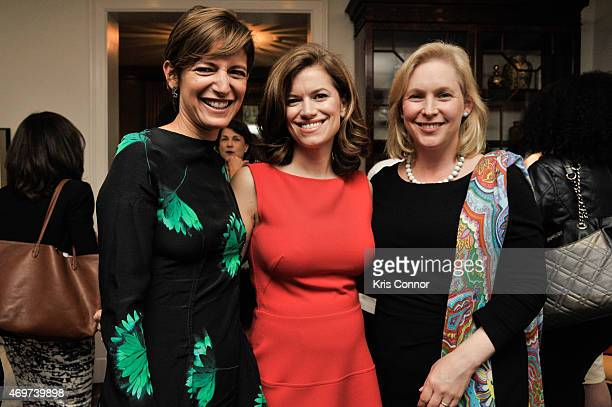 Glamour Editor In Chief Cindi LeiveNew Washington DC Editor Giovanna Gray Lockhart and Sen Kirsten Gillibrand attend a reception to honor Lockhart as...