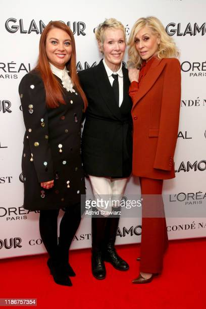 Glamour Editor in Chief Samantha Barry E Jean Carroll and Judith Light attend the 2019 Glamour Women Of The Year Summit at Alice Tully Hall on...