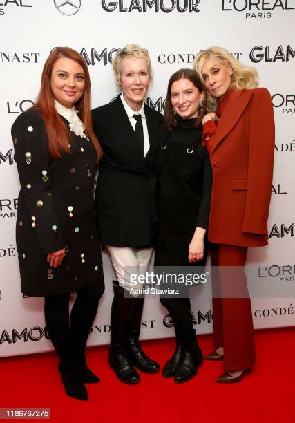 Glamour Editor in Chief Samantha Barry E Jean Carroll Maddie Kahn and Judith Light attend the 2019 Glamour Women Of The Year Summit at Alice Tully...