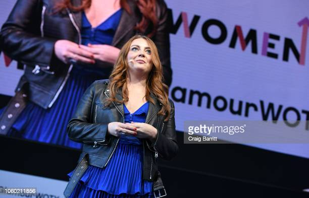 Glamour Editor in Chief Samantha Barry speaks onstage at 2018 Glamour Women Of The Year Summit Women Rise at Spring Studios on November 11 2018 in...