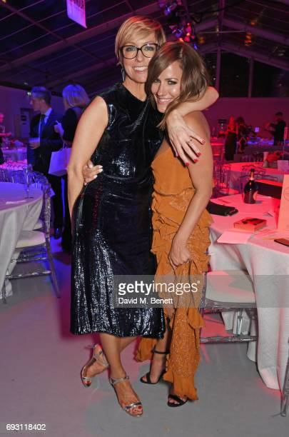 Glamour editor Jo Elvin and Caroline Flack attend the Glamour Women of The Year Awards 2017 in Berkeley Square Gardens on June 6 2017 in London...