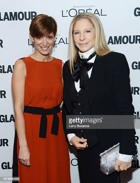 Glamour EditorinChief Cindi Leive and Barbra Streisand attend Glamour's 23rd annual Women of the Year awards on November 11 2013 in New York City