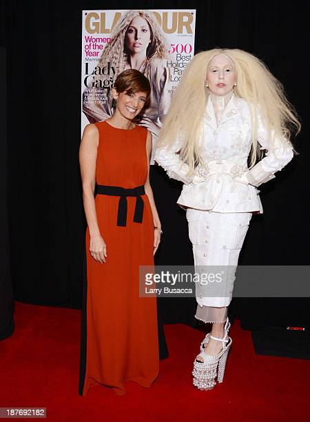 Glamour EditorinChief Cindi Leive and Lady Gaga attend Glamour's 23rd annual Women of the Year awards on November 11 2013 in New York City