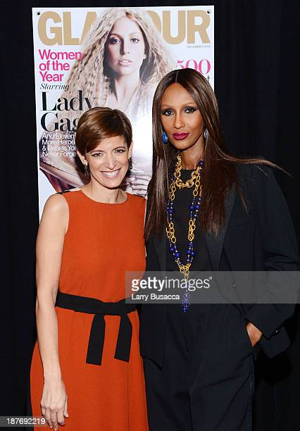 Glamour EditorinChief Cindi Leive and model Iman attend Glamour's 23rd annual Women of the Year awards on November 11 2013 in New York City