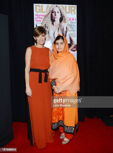 Glamour EditorinChief Cindi Leive and political activist Malala Yousafzai attend Glamour's 23rd annual Women of the Year awards on November 11 2013...