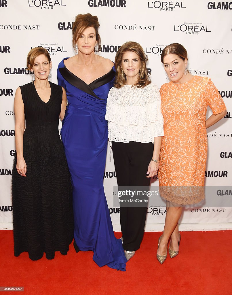 Glamour editor-in-chief Cindi Leive, Caitlyn Jenner, L'Oreal Paris President Karen Fondu, and Glamour Publisher Connie Anne Phillips attend 2015 Glamour Women Of The Year Awards at Carnegie Hall on November 9, 2015 in New York City.