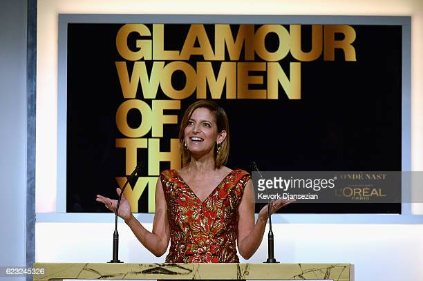 Glamour EditorinChief Cindi Leive speaks onstage during Glamour Women Of The Year 2016 at NeueHouse Hollywood on November 14 2016 in Los Angeles...