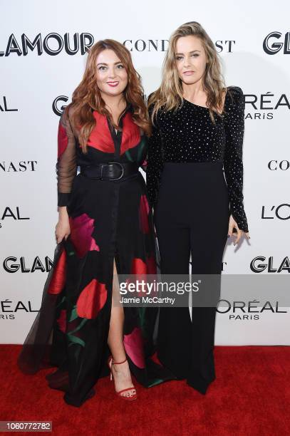 Glamour EditorinChief Samantha Barry and Alicia Silverstone attend the 2018 Glamour Women Of The Year Awards Women Rise on November 12 2018 in New...