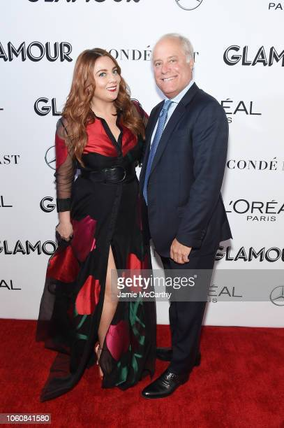 Glamour EditorinChief Samantha Barry and CEO and President of Conde Nast Bob Sauerberg attend the 2018 Glamour Women Of The Year Awards Women Rise on...