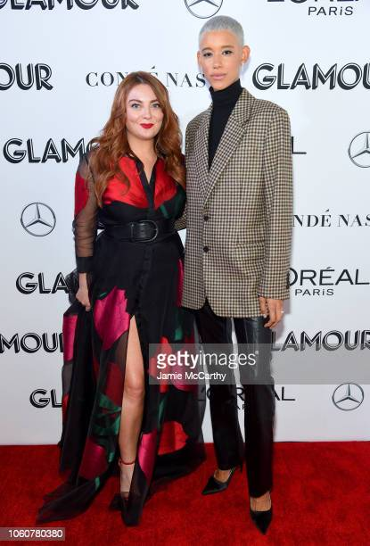 Glamour EditorinChief Samantha Barry and Dilone attend the 2018 Glamour Women Of The Year Awards Women Rise on November 12 2018 in New York City