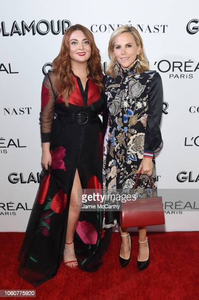 Glamour EditorinChief Samantha Barry and Tory Burch attend the 2018 Glamour Women Of The Year Awards Women Rise on November 12 2018 in New York City