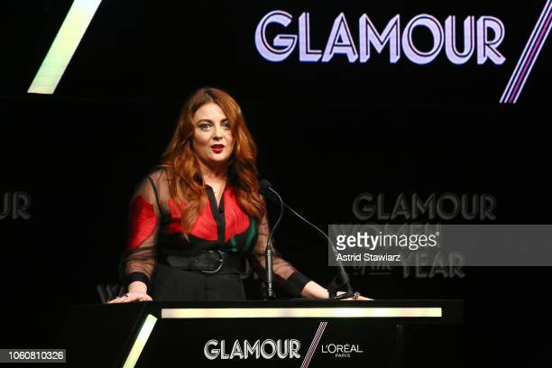 Glamour EditorinChief Samantha Barry speaks onstage at the 2018 Glamour Women Of The Year Awards Women Rise on November 12 2018 in New York City