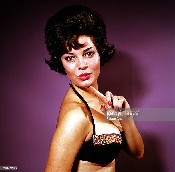Glamour Lancashire girl Rosemary Frankland who became the 1961 Miss World winning the title in London on 8th November 1961seen here posing in a...