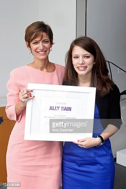 Glamour magazine EditorinChief Cynthia Leive and honoree Ally Bain attend the Glamour magazine awards for Top 10 College Women at The Modern on...