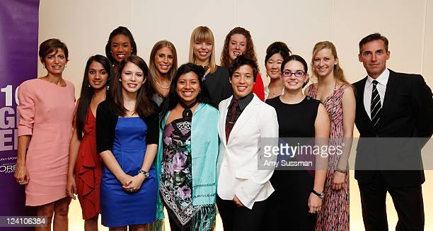 Glamour magazine EditorinChief Cynthia Leive honorees Isha Jain Amber Koonce Ally Bain Jordana Alter Confino Erica Fernandez Senior Vice President...